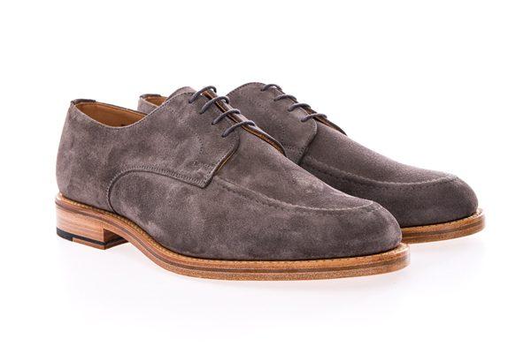 OLIVER SPENCER - Chaussures grises en daim - 280€