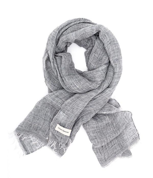 OLIVER SPENCER - Foulard en coton gris - 77€