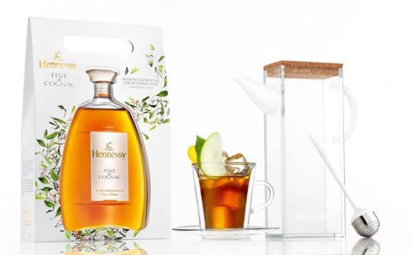 Coffret fine de cognac Henessy - Théière & diffuseur Mathieu Lehanneur