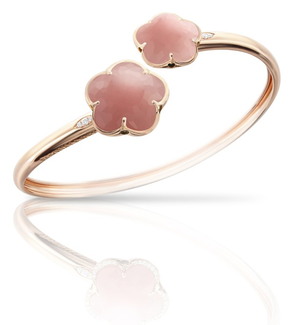 PASQUALE BRUNI - Collection BON TON bracelet or rose et agate rose - 4 150€