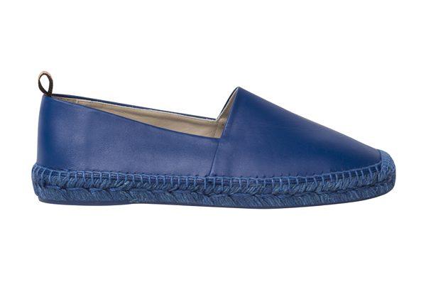 PAUL SMITH - Espadrilles en cuir bleu homme - 240€