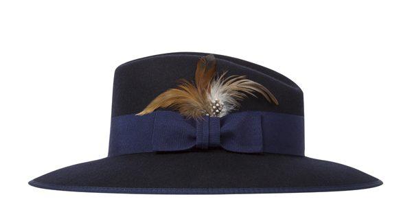 PAUL SMITH - Femme Chapeau Fedora Bleu Marine - 185€