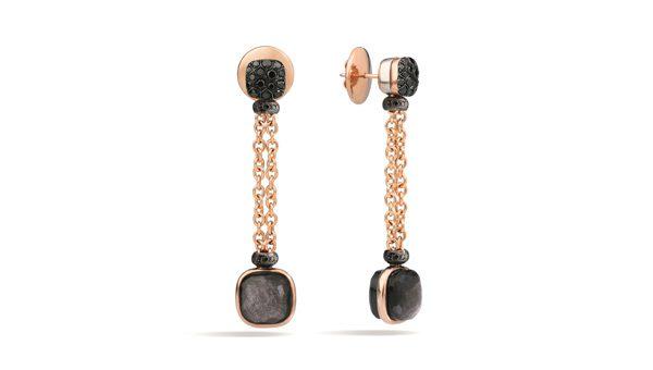 POMELLATO - Boucles d'oreilles Nudo Obsidienne - 1 500€