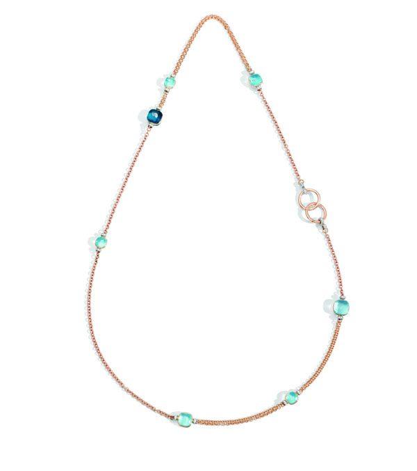 POMELLATO - Sautoir Nudo or rose, diamants, London blue Topaze - 25 300€