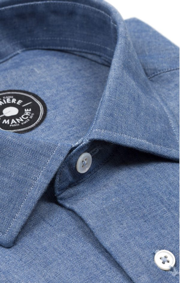 PREMIERE MANCHE - Chemise chambray jean - 56€
