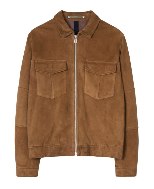 PS PAUL SMITH - Veste fauve en cuir suédé - 785€