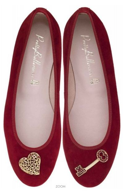 PRETTY BALLERINAS - Marilyn red suede with Swarovski - 219€