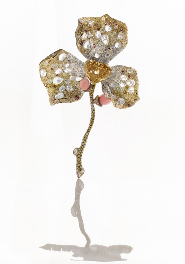 [Product Image] CINDY CHAO The Art Jewel 2015 Black Label Masterpiece No 5 Floral Brooch