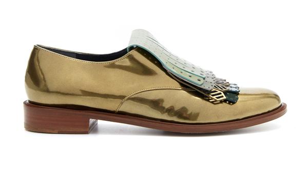 ROBERT CLERGERIE - Chaussures Jupin en veau verni métallisé - 420€