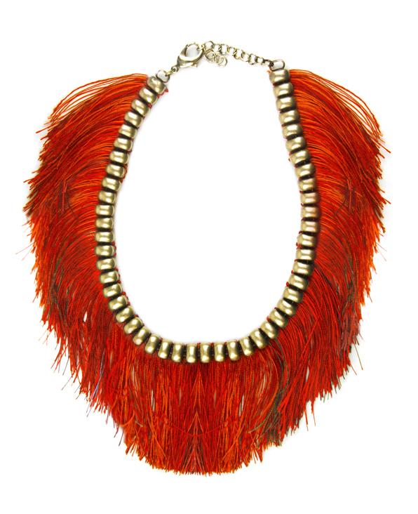 ROSANTICA chez LECLAIREUR – Collier à files rouges empiècement doré - Prix sur demande