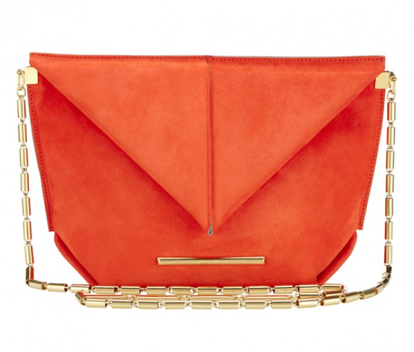 Roland Mouret SS15, Classico Bag, Suede, Orange1