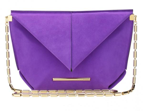 Roland Mouret SS15, Classico Bag, Suede, Purple1