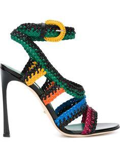 SERGIO ROSSI - sandales en cuir tressé - 790€
