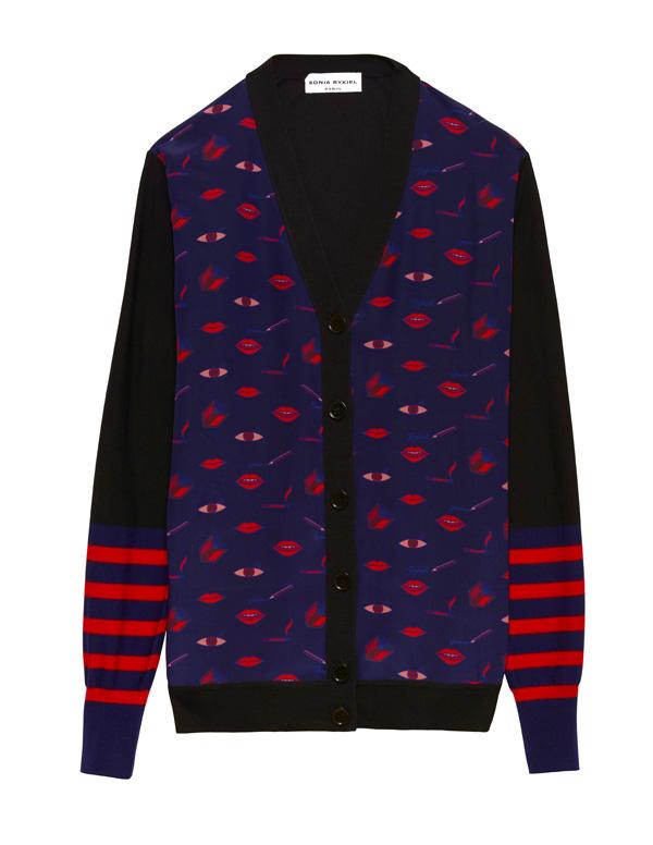 SONIA RYKIEL - Cardigan en laine et soie imprimé - 690€