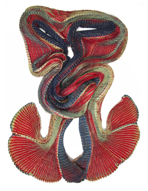SOPHIE GUYOT - Echarpe SO Plicature en soie multicolore, plissée - 250€