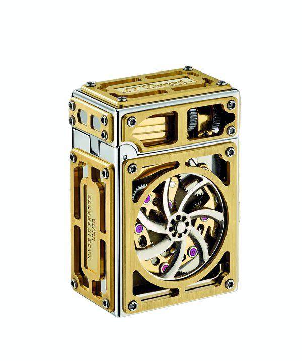 ST DUPONT - Briquet à système de complication en or, palladium et rubis - 36 900€