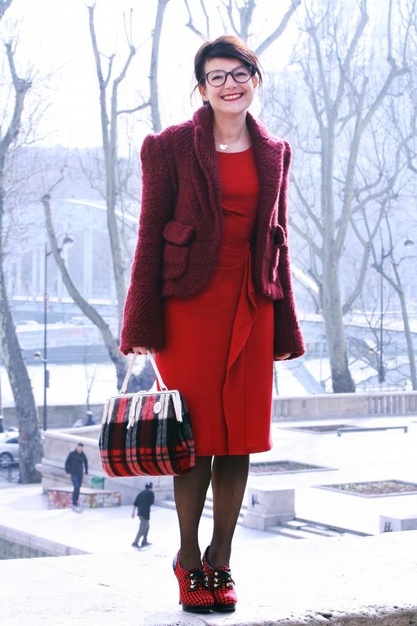 Veste Sonia Rykiel, robe Paule ka, sac Junko Shimada, derbys New Look !