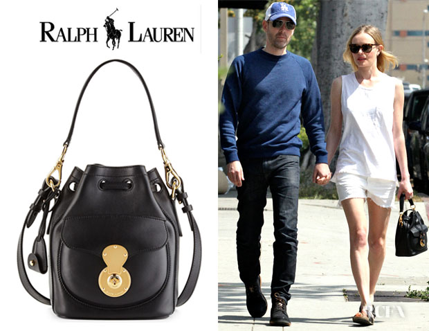 Kate Bosworth et son sac seau Ricky Ralph Lauren à Hollywood (courtesy of redcarpet-fashionawards.com)