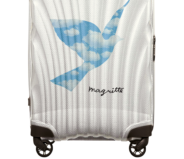 On aime la valise Samsonite x Magritte