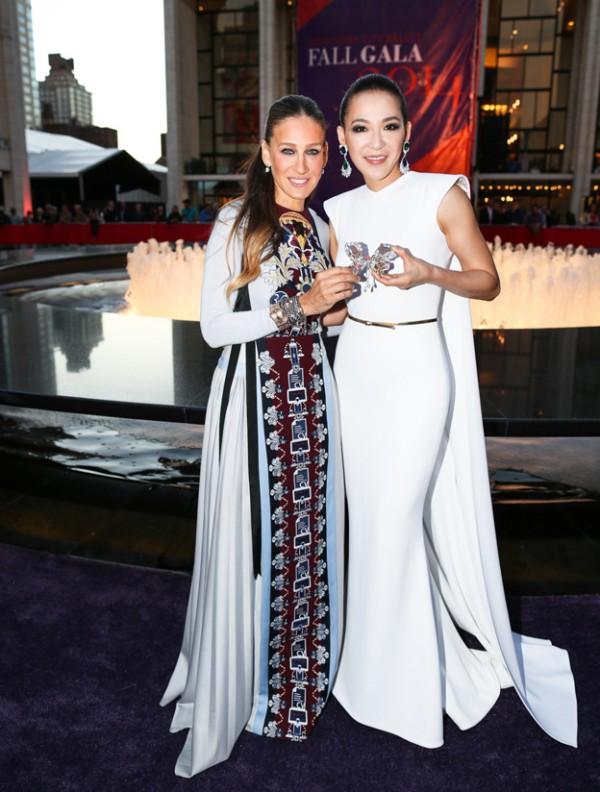 Sarah Jessica Parker et Cindy Chao au Gala du New York City Ballet le 23 septembre