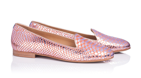 Slippers Chatelles Rose Gold Snake Ôé¼190 www.mychatelles.com