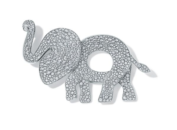 TCO Elephant Brooch