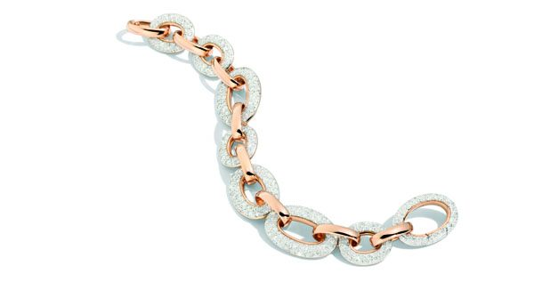 Tango bracelet in rose gold and white diamonds by Pomellato