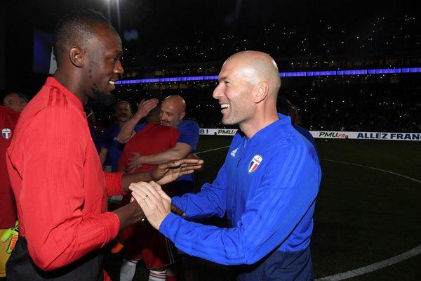Usain Bolt et Zinedine Zidane