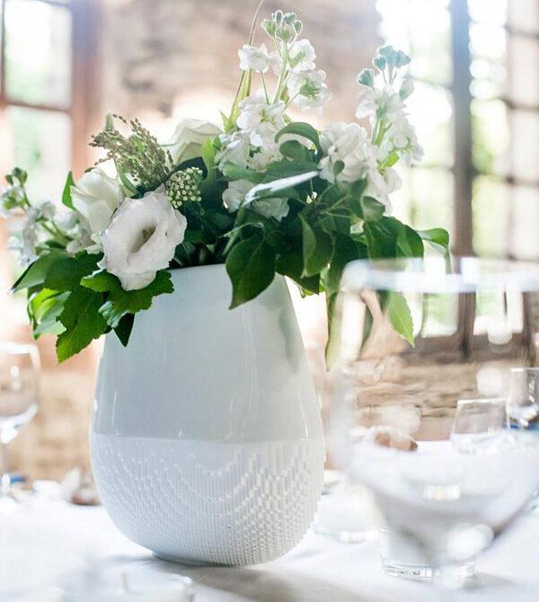 Vase blanc ovale Evolution - Non Sans Raison - NOU Design -hd