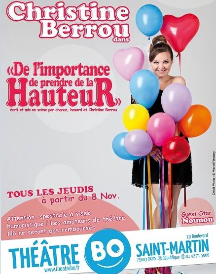 Humour : Christine Berrou prends de la hauteur