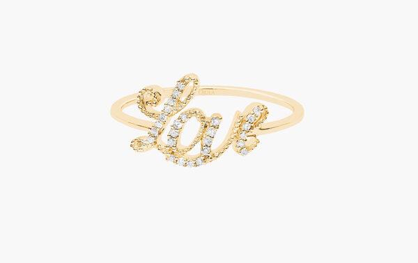 DJULA - Bague Love or 18 carats et diamants - 595€