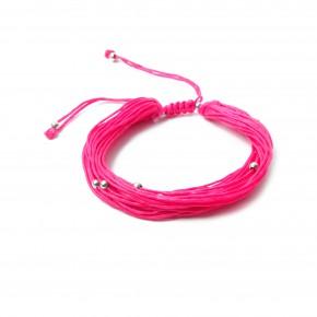 bracelet multifils-bougie-rose fluo-9,95e