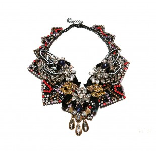 collier strass multi-180e