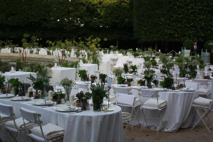 Diner Berluti dans les jardins du palais royal