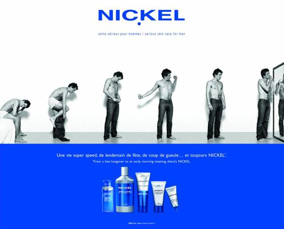 Nickel, 15 ans de soins pour hommes et pas une ride!