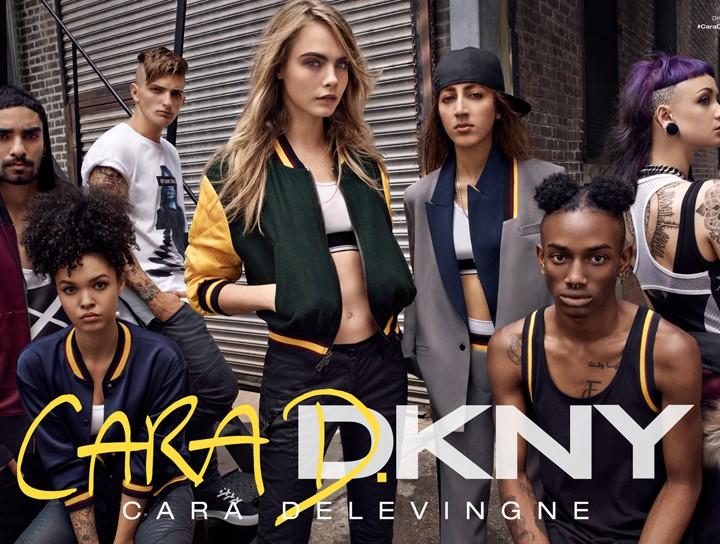 Cara Delevingne x DKNY sur Stylebop.com