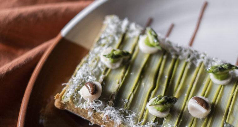 FOOD - Tarte pistache, asperges et Parmigiano