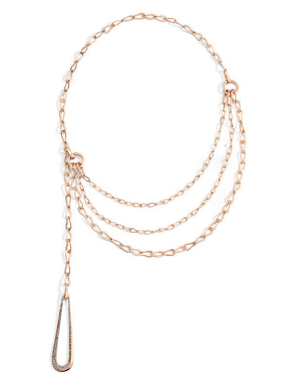 FANTINA bavarole in rose gold with pendant in brown diamonds by Pomellato (1)