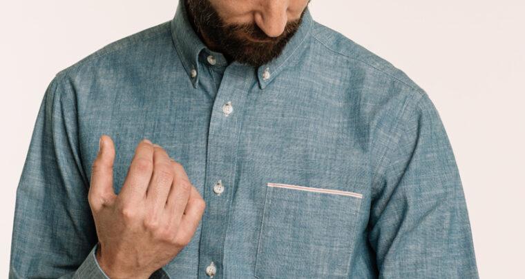 La chemise japonaise en chambray