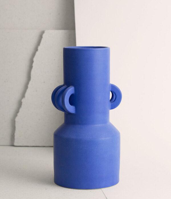 Vase droit Le Grand Bleu - Ceramics By Laura - NOU Design -hd