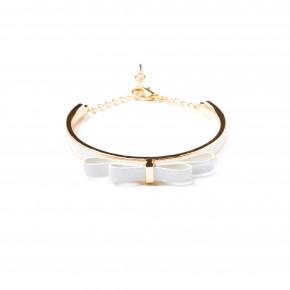 bracelet noeud rigide-blanc-15,50e