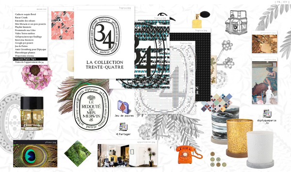 Innovation digitale chez diptyque pour la collection 34