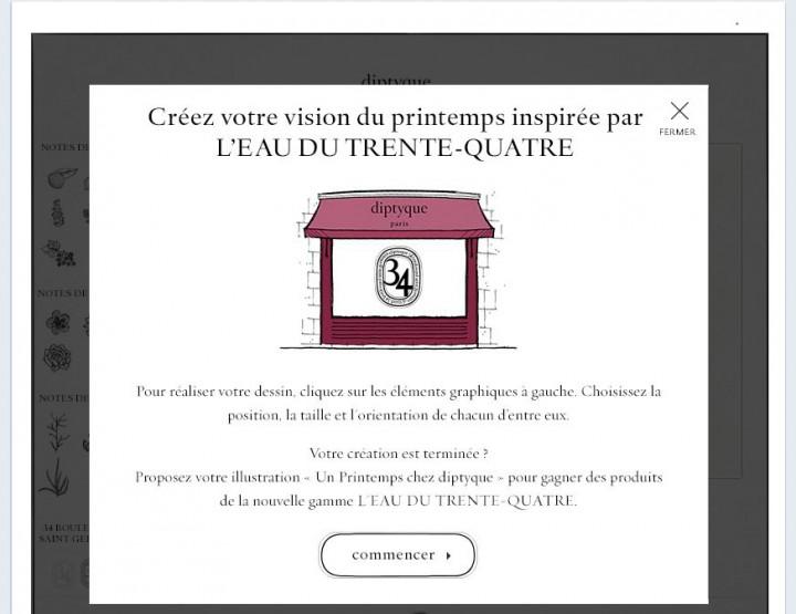 diptyque lance un jeu concours sur Facebook