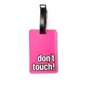 etiquette bagage-message- rose-silicone-14,50e