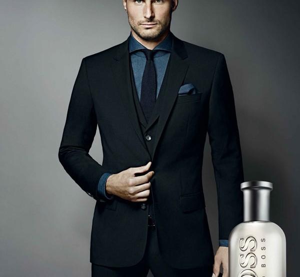 Olivier Giroud, ambassadeur du parfum Boss Bottled