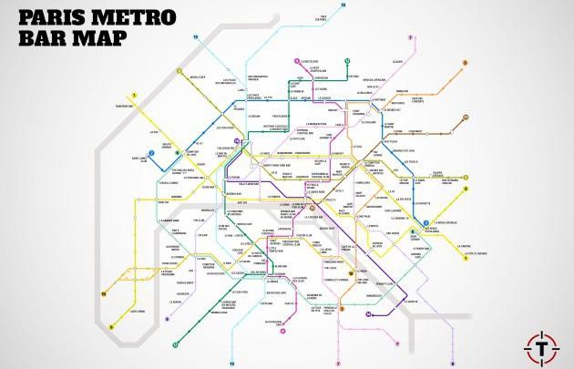 LA BAR MAP