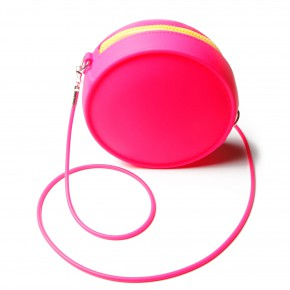 sac-fashiondealeuse-rond silicone rose fluo